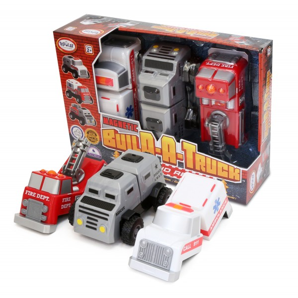 Build A Truck >> Magnetic Build A Truck Fire And Rescue Popular Playthings